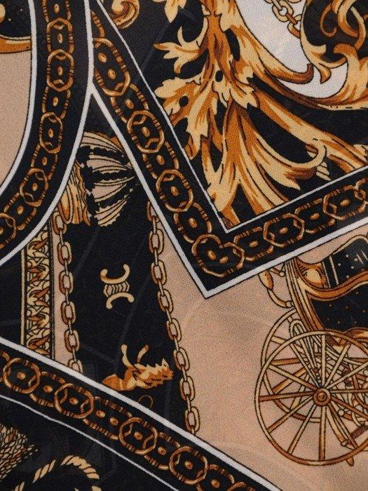 Szyfonowa tunika z eleganckim nadrukiem 23909