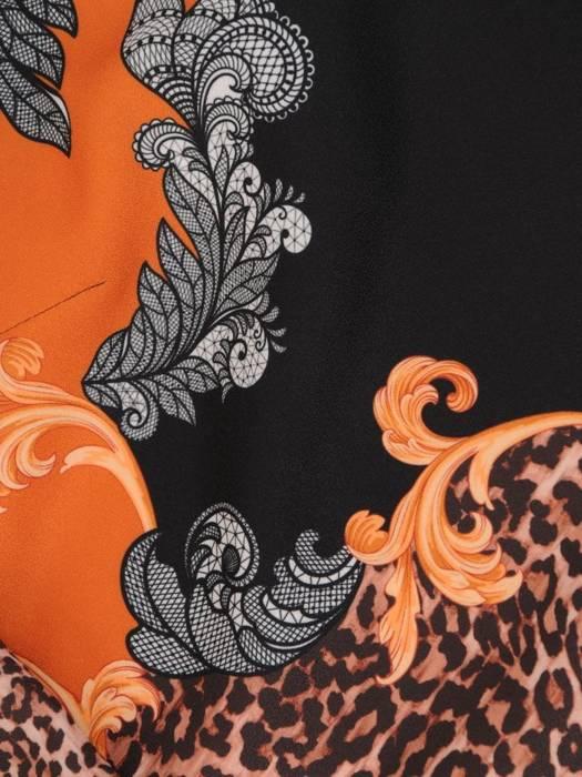 Trapezowa sukienka w oryginalny wzór 27828