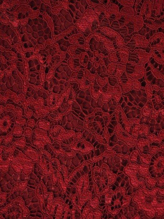 Trapezowa sukienka z koronki, kreacja z wycięciem na plecach 23009
