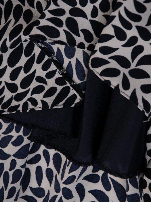 Trapezowa sukienka z szyfonu z rozcięciami na rękawach 25236