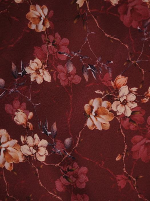 Trapezowa sukienka z szyfonu, zwiewna kreacja na jesień 22302.