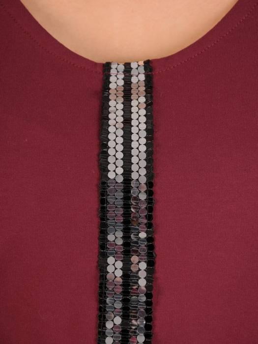 Tunika, bluzka w kolorze bordowym 28651