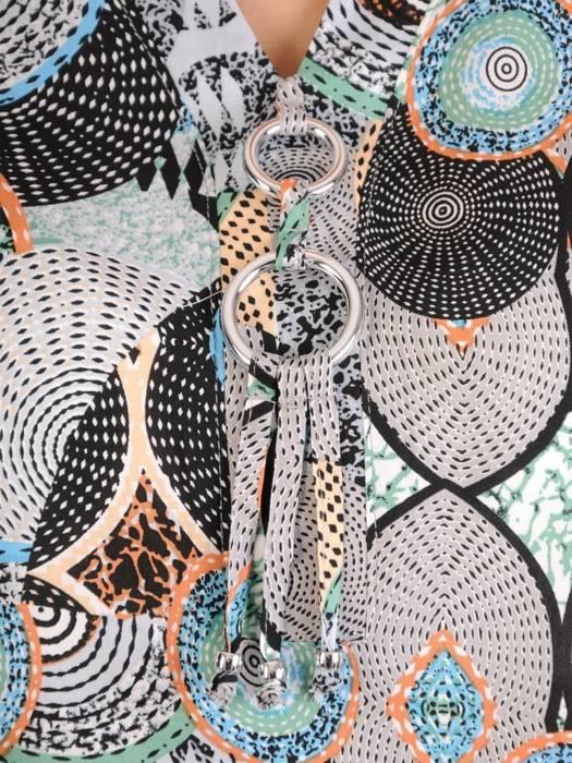 Tunika z tkaniny w wiosennej kolorystyce 28865