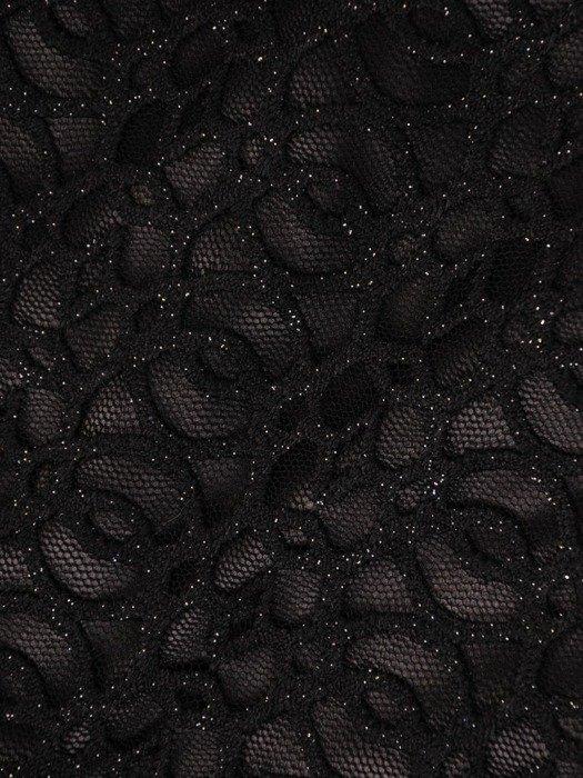 Wieczorowa mała czarna z połyskującej koronki 24051