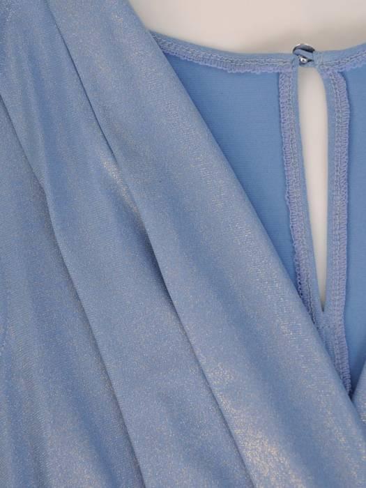 Wieczorowa sukienka damska, rozkloszowana kreacja z dłuższym tyłem 27464