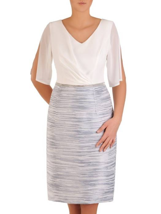 Wieczorowa sukienka z modnie wyciętymi rękawami 28280