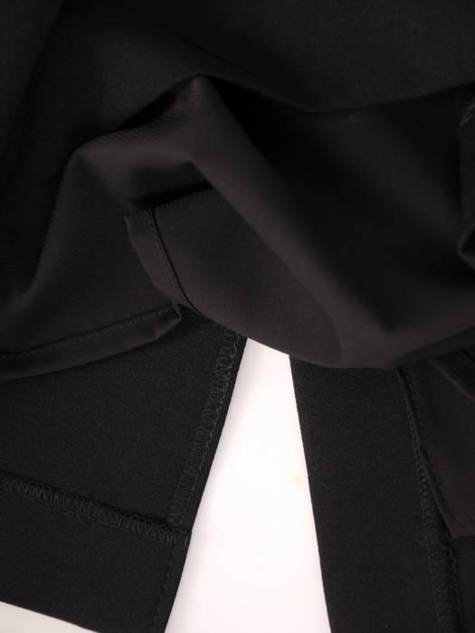 Wieczorowa sukienka z podwyższonym stanem i rękawami z szyfonu 30624