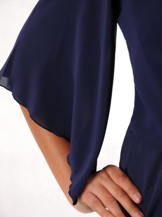 Wieczorowa sukienka z szyfonową imitacją bolerka 21810