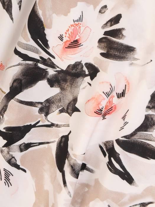 Wiosenna sukienka z tkaniny w modnym kwiatowym wzorze 29298