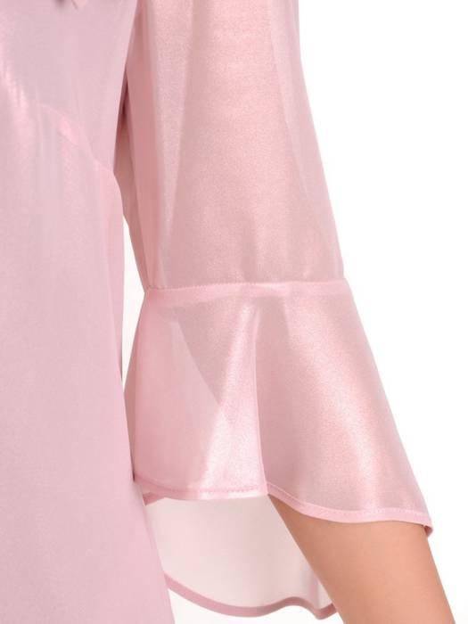 Wizytowa sukienka damska, kreacja z połyskującego szyfonu 29725