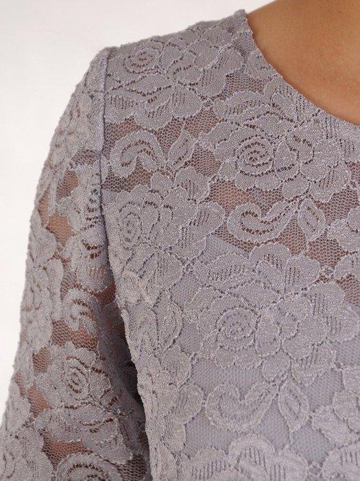 Wizytowa sukienka z koronkowym topem 25241