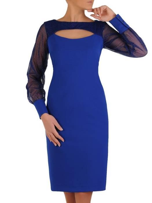 Wizytowa sukienka z modnie wyciętym dekoltem 28218