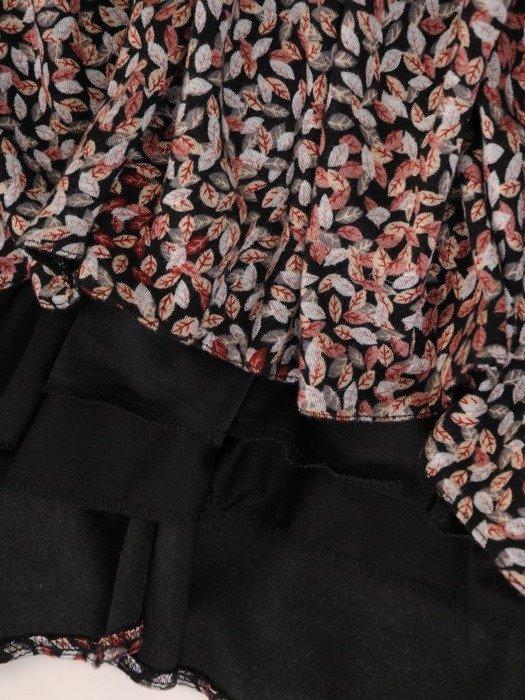 Wizytowa sukienka z wiązanym dekoltem i z falbanami 26792