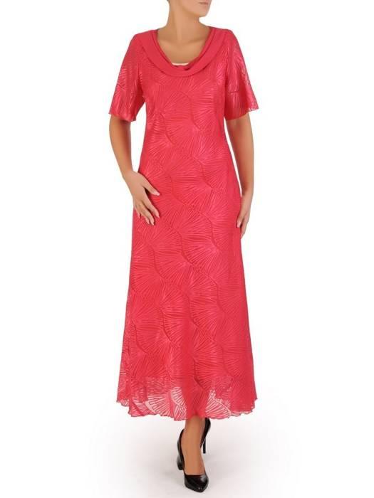 """Wyjściowa sukienka z dekoltem typu """"woda"""" 27258"""