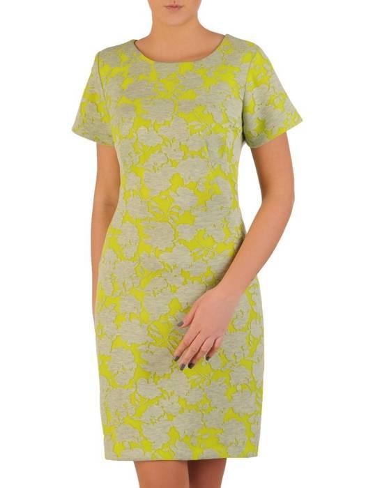 Wyszczuplająca sukienka w kwiaty, modna kreacja na wiosnę 28617