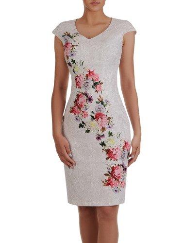 Wyszczuplająca sukienka z eleganckiej tkaniny 16743