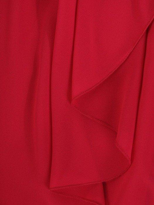 Wyszczuplająca sukienka z szyfonu, kreacja z cyrkoniami 24355