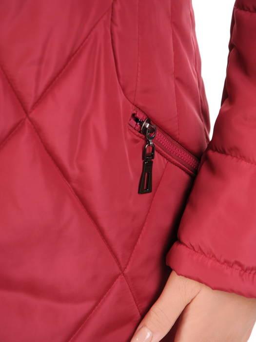 Wyszczuplający płaszcz z pikowanej tkaniny z kapturem 30712