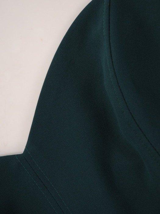 Zielona sukienka gorsetowa, kreacja z tkaniny i tiulu 24905
