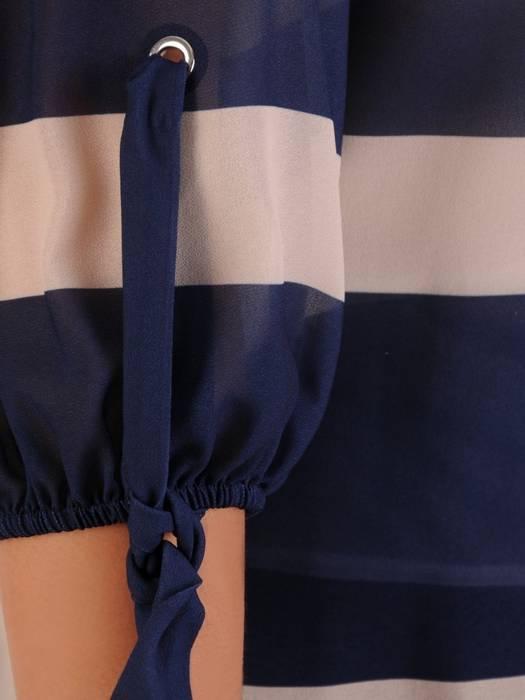 Zwiewna bluzka z ozdobnymi rękawami 26311
