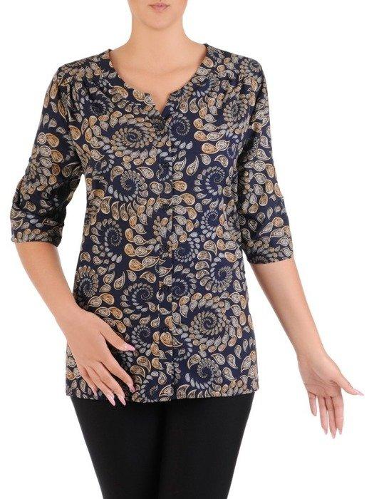 Zwiewna bluzka z tkaniny 26625