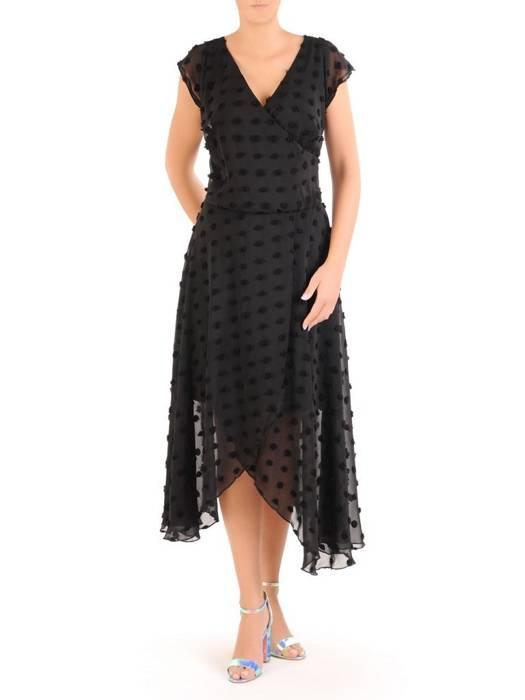 Zwiewna sukienka maxi z kopertowym dekoltem 30298