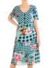 Wyjściowa sukienka z falbanami, zwiewna kreacja w oryginalnym wzorze 29372