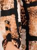 Bluzka, tunika w zwierzęcy wzór z rozpinanym dekoltem 30987