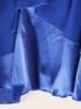 Chabrowa sukienka z szyfonu, kreacja z wyszczuplającymi marszczeniami 30427