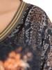 Czarna, dzianinowa tunika z ozdobnym nadrukiem 29198