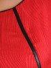 Czerwona sukienka z tkaniny żakardowej, wyszczuplająca kreacja 24204