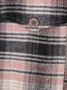 Długa kurtka koszulowa damska w kratkę 29057