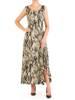 Długa sukienka letnia z ozdobną falbaną 30172