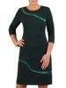 Dzianinowa sukienka z geometrycznymi, błyszczącymi wstawkami 23973