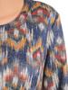 Dzianinowa sukienka z modnymi rękawami i ozdobnie wyciętym dekoltem 30519