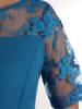 Elegancka sukienka damska, kreacja z koronkowymi wstawkami 28406