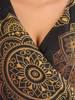 Elegancka sukienka maxi, kreacja z ozdobnymi rozcięciami na rękawach 30490