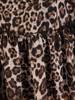 Elegancka sukienka z szyfonu w modny zwierzęcy wzór 27723