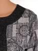 Grafitowa dzianinowa sukienka, kreacja z imitacją żakietu 28154