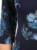 Jesienna sukienka damska w oryginalnym, kwiatowym wzorze 30956