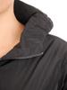 Jesienny płaszcz damski z kapturem i wydłużonym tyłem 30687