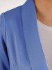 Klasyczny niebieski żakiet z ozdobnym guzikiem 25049