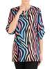 Kolorowa bluzka damska z marszczeniami na rękawach 29822