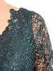 Kopertowa sukienka maxi, zielona kreacja z koronkowym topem 30593