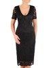 Koronkowa sukienka wizytowa, kreacja w kolorze czarnym 22566