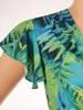 Letnia sukienka kopertowa, kreacja z rozkloszowaną spódnicą 30324