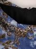 Luźna sukienka z kontrafałdą, oryginalna kreacja z golfem 27601