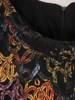 Luźna sukienka z kontrafałdą, oryginalna sukienka z golfem 27354