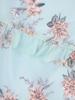 Luźna sukienka z ozdobnymi falbankami i wiązaną stójką 30817
