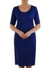 Luźna sukienka z połyskującej dzianiny, kreacja z kieszeniami 22797